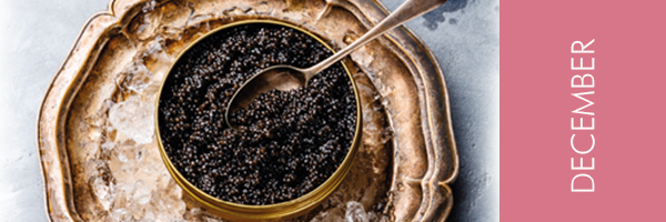 Gold bowl with caviar