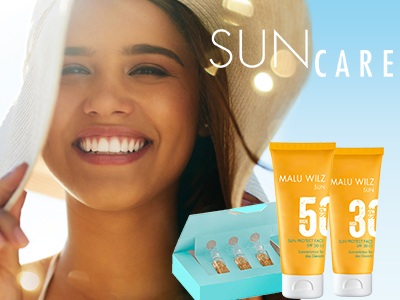 young woman with Sun Care Products