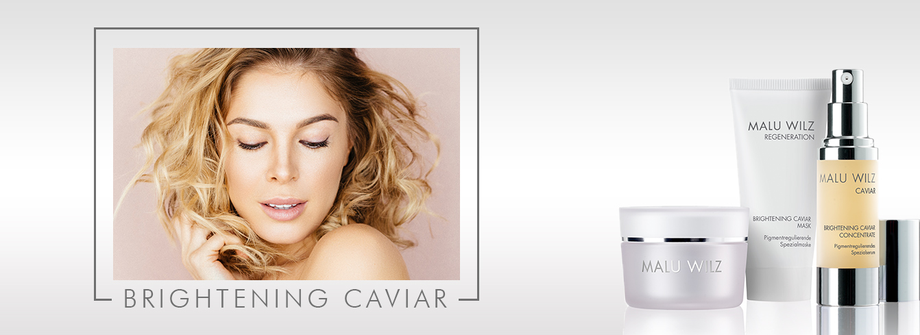 woman with Brightening Caviar products