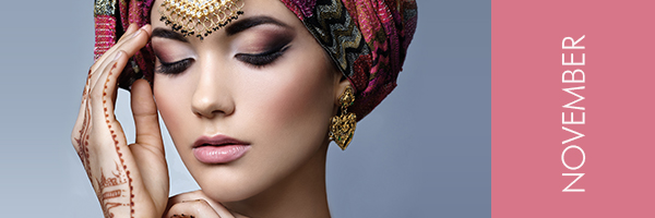 young woman with turban and oriental jewelry