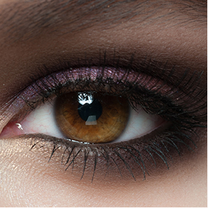 eye with eyeshadow and mascara